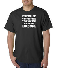 Exercise Eggs Are Sides For Bacon Funny Workout Breakfast T-Shirt S-5XL