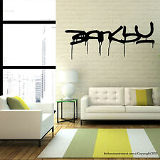 Banksy Street Art Wall Decal Modern Home Stickers Removable Sticker Home Deco