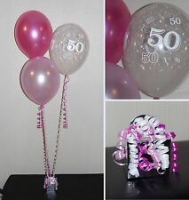 50th  Birthday Balloons - DIY Party Decoration Kit  Clusters For  5  - 15 Tables
