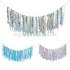 Wedding Garland Bridal Baby Party Floral Cloth Bunting Banner Decoration Favor