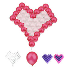 40pcs Balloons with Heart-shaped Modeling Plastic Grid Wedding Prom Party Decor
