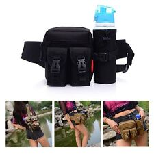 Tactical Multifunction Outdoor Hiking Fanny Waist Pack Belt Water Bottle Bag YK