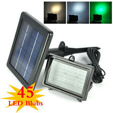 Outdoor Solar Power 45 /40 /30 LED Garden Sensor Spotlight Flood Light Lawn Lamp