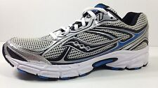 25181-15 SAUCONY Mens' Grid Cohesion 7 Silver Black Blue Athletic Shoes