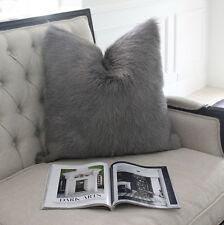 HIMALYAN GOATSKIN FUR  HIDE CUSHION GOAT SKIN GENUINE  GREY 40cm 50cm 60cm