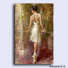 Hand Painted Oil Painting Art On Canvas young ballet girl