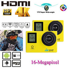 Full HD 1080P 16MP Car Cam Waterproof Sport DV Camera Action Camcorder 2 Battery