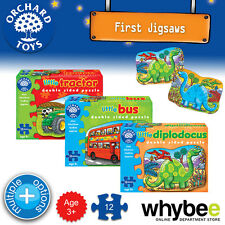 New! Orchard Toys First Jigsaw Puzzles - Double Sided Jigsaws Kids Children 3yrs