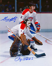 Rogie Vachon - Guy Lapointe Montreal Canadiens 8x10 Signed Photo. COA T1M