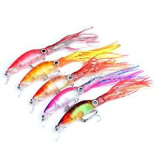 Multicolor Soft Plastic Fishing Lures Bait Squid Skirts Trolling Bait with Hook