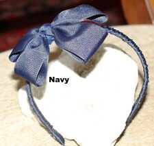 "Headband 1/4"" awesome with bow on top for exrta cute. Many colors Offray Ribbon"