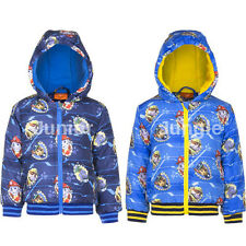 NEW BOYS LICENSED PAW PATROL WINTER COAT, FLEECE LINED PUFFA JACKET, 3 to 8 yrs