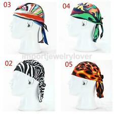 Unisex Wicking Sweat Beanie Head Scarf Outdoor Cycling Racing Hat Cap