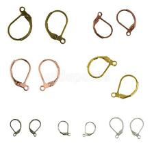 50pcs French Leverback Earrings Hooks with Open Loop Findings DIY