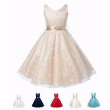 Kids Birthday Communion Party Pageant Wedding Bridesmaid Flower Girls Tutu Dress
