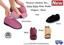 NEW SILVERTS WOMENS EXTRA WIDE WIDTH SLIPPERS SWOLLEN FEET DIABETIC ADJUSTABLE