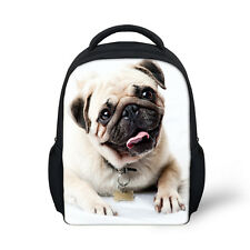 Cute Baby Toddle Kids Pug Puppies Animal Backpack Small School Bag Lunch Bag