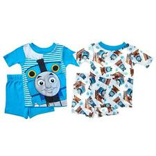THOMAS THE TRAIN Boys 2T 3T 4T Pjs Set PAJAMAS Shirt Shorts James Percy Engine