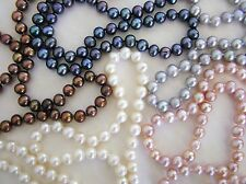 Hand Knotted Pearl Necklace & Bracelet Sets! 5 COLORS! Sterling Silver Clasp 925