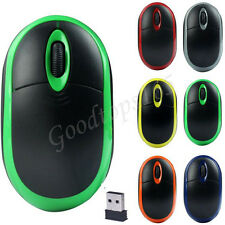 2.4GHz Optical 3D Buttons Wireless Mouse  USB Receiver For Laptop PC Computer