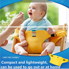 Portable Kids Baby Child Safe Feeding Eating Auxiliary Chair Belt booster chair