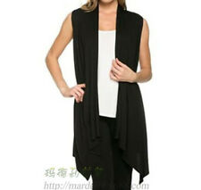 48331 women sleeveless top asymmetrical hem  Sweaters loose blouse casual new