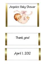 Baby Shower Nugget Candy Wrapper Labels - Baby girl or boy in sling