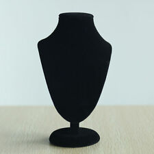 New Black Velvet Necklace Pendant Jewelry Bust Display Stand Holder Rack Case HA