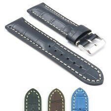 DASSARI Concord Leather Watch Strap Band Croc fits Breitling Navitimer World