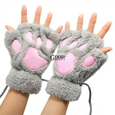 Claw Design Gloves Women Fingerless Plush Cat Bear Paw Claw Free Shipping TXGT