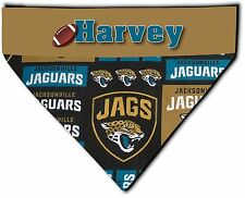 Over Collar Dog Personalized NFL Football Jacksonville Jaguars Bandana Bandanna