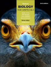 Nelson Biology Vce Units 3 & 4 (Student Book with 4 Access Codes) by Sarah Jones