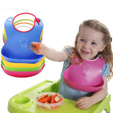 2016 Baby Infant Kids Silicone Bib Baby Lunch Waterproof Bibs Pick Rice Pocket