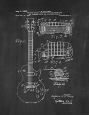 McCarty Stringed Musical Instrument Patent Print Chalkboard