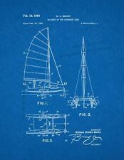 Sailboat Of The Catamaran Type Patent Print Blueprint