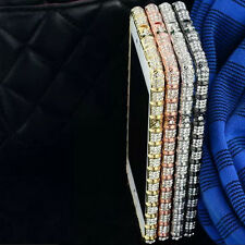 Luxury Crystal Bling Rhinestone Diamond Metal Case Bumper Frame For Apple iPhone
