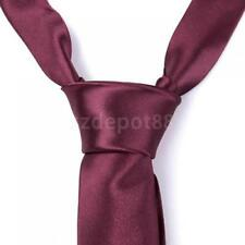 New Stylish Mens 2'' Skinny Classic Tie Solid Plain Formal Casual Necktie Tie