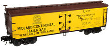 "Atlas ""O"" #3002515-2 Midland Continental RR 40' Wood Reefer # 23314 (2 Rail)"
