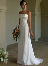 New Chiffon Beach Wedding Dress Bridal Gown stock Size 2 4 6 8 10 12 14 16