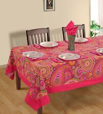 Floral Rectangular Square Tablecloth Décor Cover Runner 100% Cotton Tableware