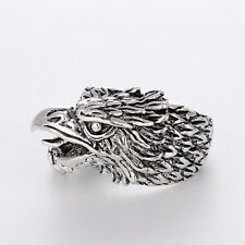 New Jewelry Stainless Steel Mens/Womens Unique Silver Fashion eagle Rings Hot