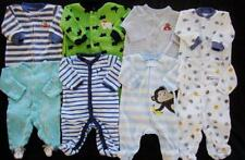 Baby Boys Newborn 0/3 Months CARTER'S Sleepers Pajamas Clothes Lot