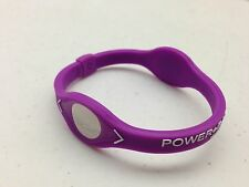Power Balance - PURPLE with WHITE Writing, Bracelet Band  - Wristband - NEW
