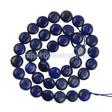 8/10mm Oval Blue Lapis Gemstone Loose Bead Strand Jewelry NecklaceMaking 15.5 In