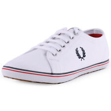 Fred Perry Kingston Twill Mens Trainers White New Shoes