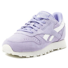 Reebok Classic Leather Womens Trainers Violet New Shoes