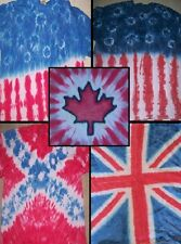 Handmade Tie Dye KIDS shirt - FLAG - TRADITIONAL OR AMERICANA, BRITISH, CANADIAN