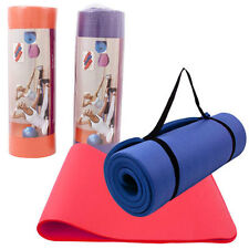 """72"""" Non-slip Fitness Exercise Pilates Yoga Mat Pad 15mm Extra Thick wCarry Strap"""
