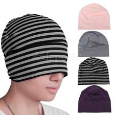 Fashion Womens Mens Striped Hats Skullies Beanies Cotton Bonnet Cap Sleep Hats