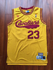 NBA Cleveland Cavaliers LeBron James Yellow Throwback Classic Sewn Jersey NWT